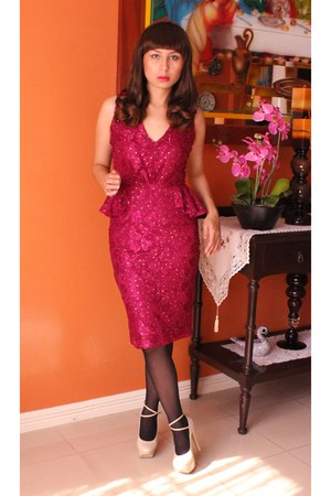 magenta lace Dorothy Perkins dress