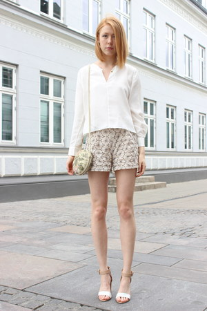 eggshell flower unknown shorts - ivory Other Stories shirt
