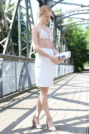 white pleather Jernov skirt - white Jernov bra