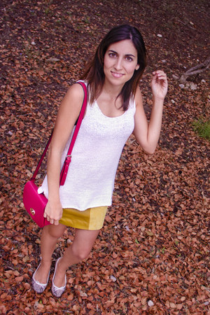 fucsia Local store bag - Forever21 skirt - knit H&M top