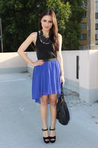 deep purple Petticoat Alley skirt - black Steve Madden heels