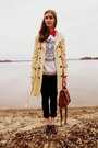 Eggshell-tulle-coat-burnt-orange-claires-bag-white-vintage-sweatshirt