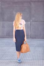 vintage skirt - Pull & Bear shirt - Misako bag - Claires sunglasses
