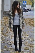 leopard print H&M coat