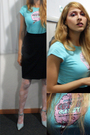 Black-vintage-skirt-blue-vintage-shoes-blue-papaya-shirt-beige-topshop-tig