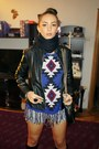 Black-boots-zara-jacket-aztec-print-thrifted-sweater-black-scarf