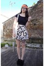 Primark-shoes-forever-21-top-forever-21-skirt-claires-hair-accessory
