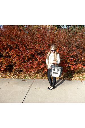 Celine bag - Mango sweater - le chateau vest