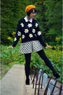 Black-daisy-pullover-chicnova-sweater