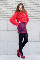 red red pattern new look shoes - red leopard print jennyfer dress - red made by