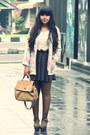 Off-white-vintage-blazer-dark-brown-sheer-polkadot-sammydress-tights