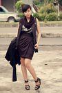 Black-vintage-coat-gray-thrift-store-vest-gray-h-m-dress-black-topshop-ski