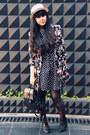 Black-polkadot-skater-primark-dress-black-primark-coat