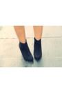 Black-asos-boots-black-river-island-dress-teal-wool-blend-milanoo-coat