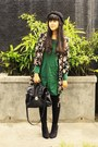 Black-asos-boots-forest-green-martofchina-dress-black-primark-coat