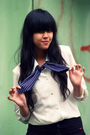 Blue-thrift-store-blazer-white-thrift-store-blouse-black-oink-shoes-blue-s