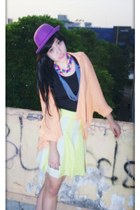 yellow major minor skirt - purple Unbranded Bowler Hat hat