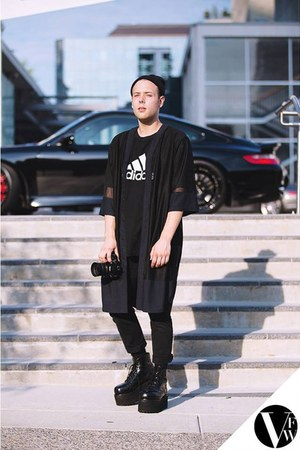 vintage boots - Evan Ducharme shirt - Adidas t-shirt - Urban Outfitters pants
