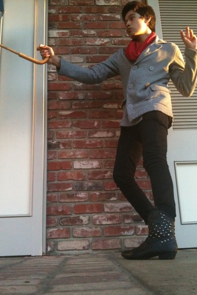Urban Outfitters coat - Thrift Store accessories - Forever 21 jeans - Forever 21