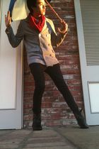 Urban Outfitters coat - Thrift Store accessories - black Forever21 jeans - Forev