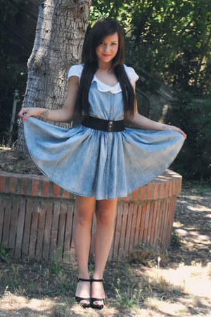 blue denim dress H&M dress