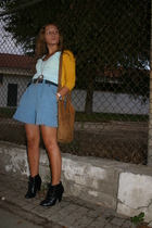jacket - vintage top - vintage shorts - new look boots - accessories - vintage b