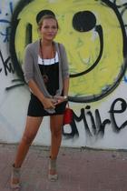 H&M dress - Bershka jacket - Claires necklace - pull&bear accessories - Zara sho