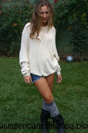 sweater - shorts - socks - boots