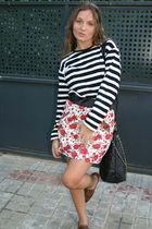 red no brand skirt - black Primark accessories - brown Primark shoes - black Zar