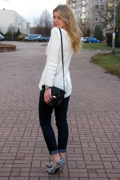 Zara jeans - allegro sweater - Mango bag - H&M wedges
