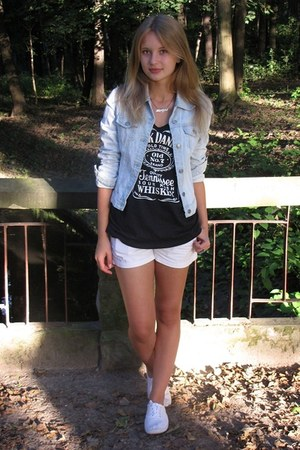DIY t-shirt - Atmosphere shoes - Bershka jacket - Zara shorts