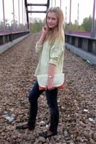 Zara jeans - Glitter watch