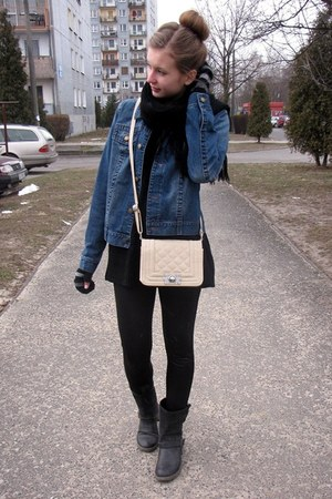 Glitter bag - John Baner jacket - Zara pants