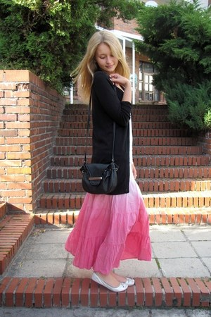 BonPrix skirt - Bershka shoes - Mango bag - Tally Weijl t-shirt