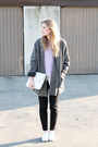 White-h-m-shoes-dark-gray-second-hand-coat-periwinkle-second-hand-sweater