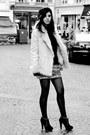 Beige-fake-fur-zara-coat-camel-mango-skirt-black-chiffon-zara-top