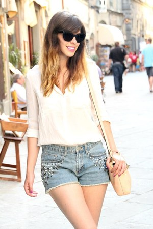 blue embellished H&M Trend shorts - black Celine sunglasses