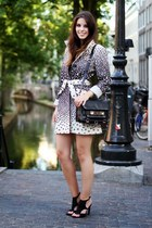 beige animal print desigual coat - black leather PROENZA SCHOULER bag