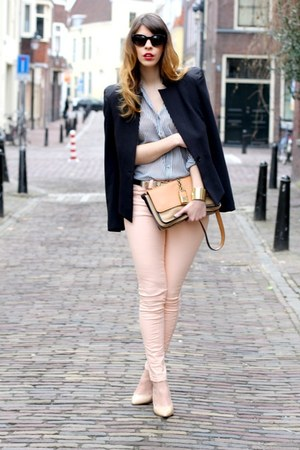 new look pants - Chloe bag - Zara blouse