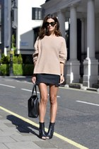 MOBO by Lesley Mobo skirt - Alexander Wang shoes - Hermes bag - Celine jumper