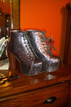 silver sparkly Jeffrey Campbell shoes