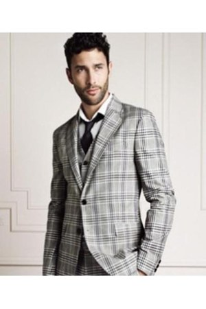 check HE by Mango pants - check suit HE by Mango suit