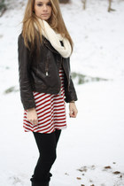jacket - snow boots boots - infinity scarf scarf - top