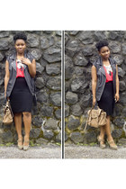 light brown River Island heels - black H&M Trend vest