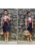 light brown River Island heels - black H&M Trend vest