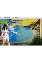 Ralph Lauren shirt - H&M shorts - rayban sunglasses - bikini top Manoush bra