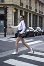 White-cotton-ddp-shirt-black-and-gold-lancaster-bag-zara-shorts