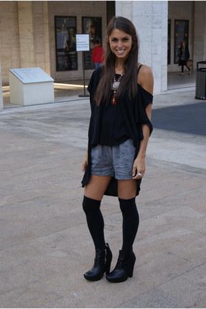 black emma&sam shirt - black zoe boot sam edelman boots
