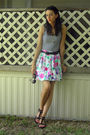 White-norma-kamali-top-white-thrifted-skirt-black-thrited-belt-black-forev