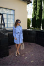 Gap-dress-blue-aviator-sunglasses-t-strap-studded-lulus-pumps